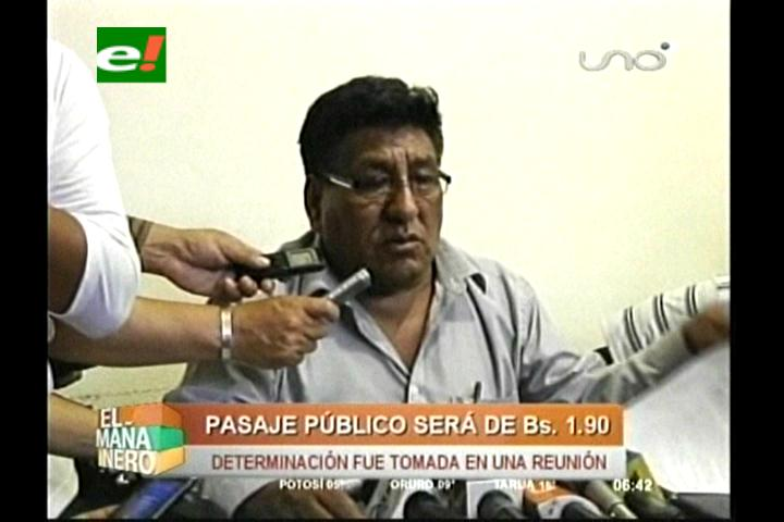 Cochabamba: Acuerdo fija pasaje urbano en Bs 1.90 y Fejuve respalda