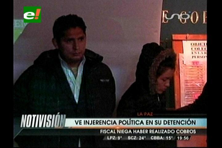 Familia de Fiscal acusado de recibir coima ve injerencia política en su detención