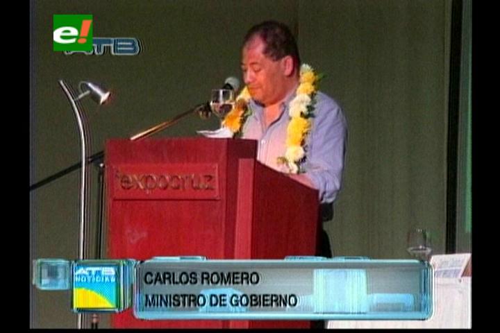 Ministro de Gobierno presentó su informe de la gestión 2013