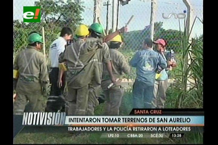 Loteadores intentaron tomar terrenos del Ingenio San Aurelio