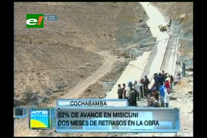 Doce fallas alejaron de obras al Consorcio de Misicuni