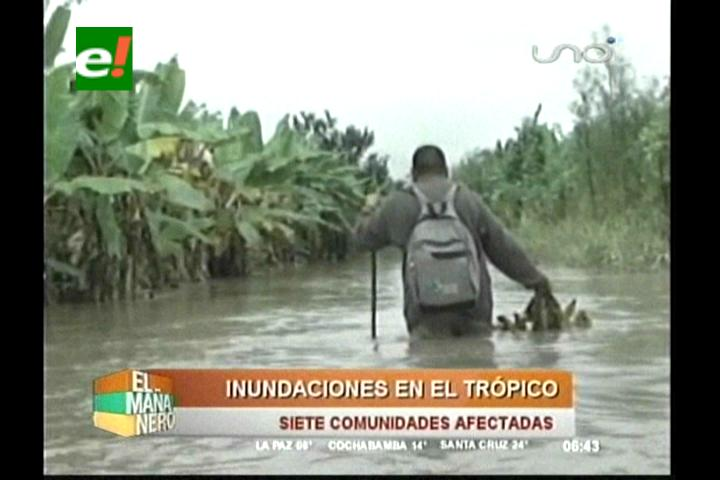 Desborde de ríos en el Trópico cochabambino afecta a varias comunidades