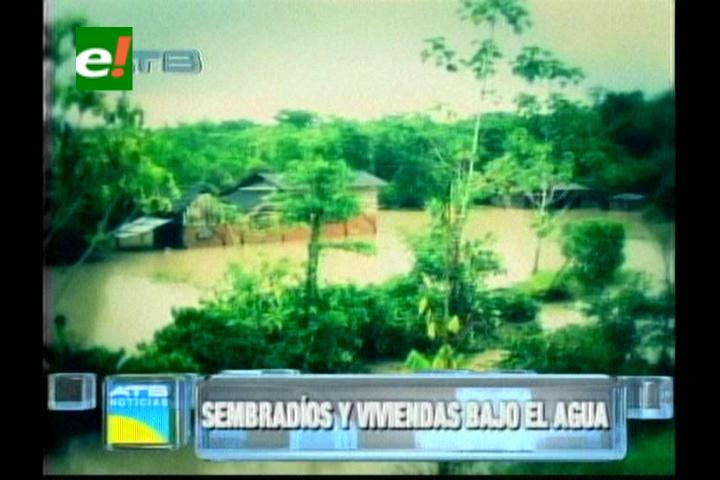 Lluvias afectan viviendas y cultivos en Puerto Villarroel