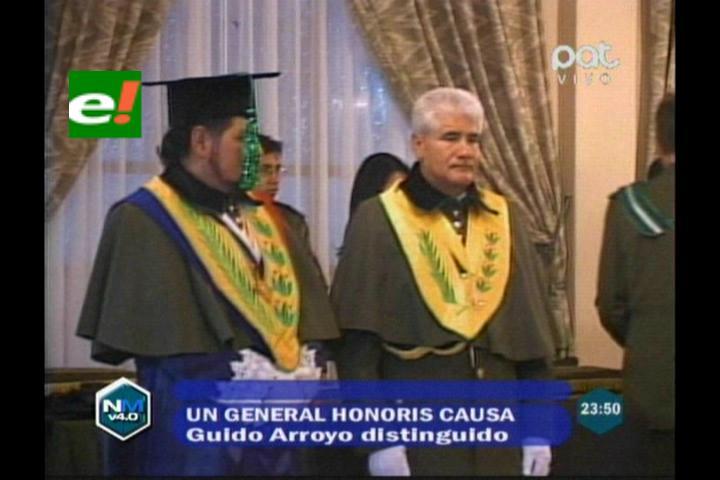 Honoris Causa para el General de Policía Guido Arroyo
