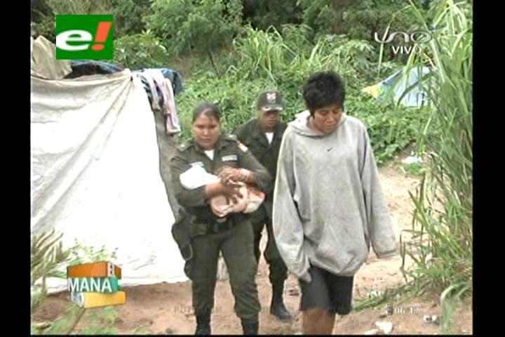 Rescatan a una bebé nacida en un refugio de indigentes