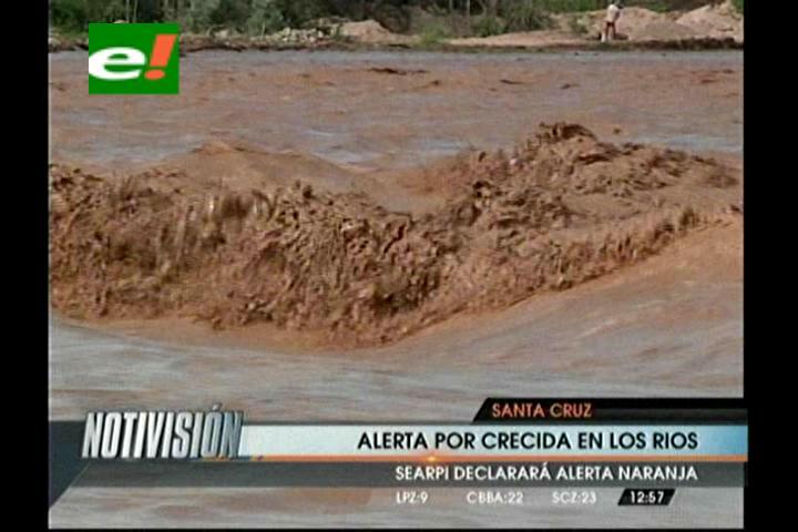 Santa Cruz: Lluvias provocan crecidas extraordinarias en ríos de la región