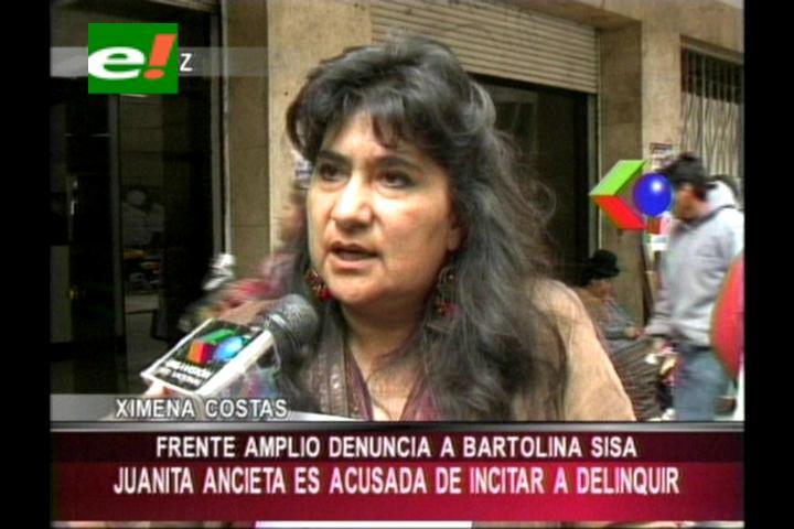 """Frente Amplio denuncia a dirigente de las """"bartolinas"""" por promover campaña política"""