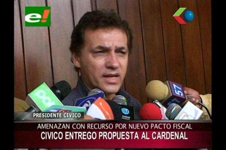 Cívicos prevén proceso contra el Gobierno por incumplir plazo de pacto fiscal