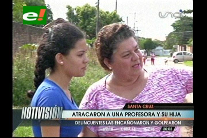 Santa Cruz: Profesora es atracada a una cuadra de su casa y en presencia de su hija