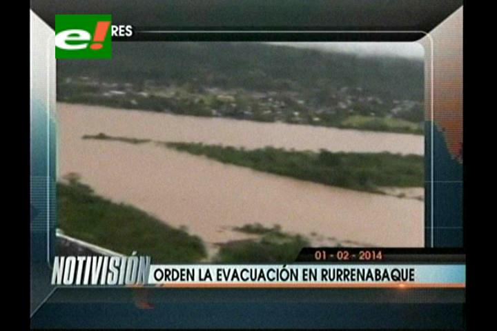 Titulares: Autoridades del Beni ordenan la evacuación de Rurrenabaque por las inundaciones