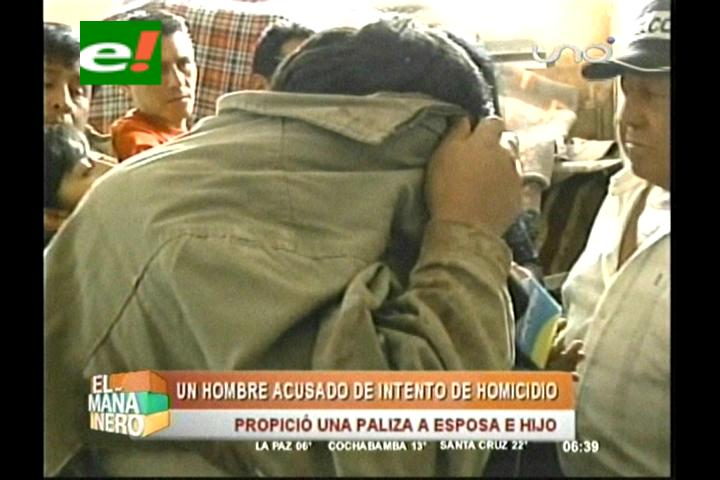 Cochabamba: Ebrio hiere con una botella y ladrillo a su esposa y bebé