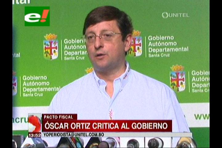 """Gobernación cruceña acusa al Gobierno de """"rehuir"""" al Pacto Fiscal"""