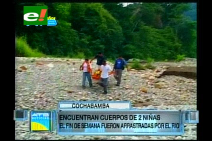 Encuentran los cuerpos de las menores que fueron arrastradas por el río en Sacabamba