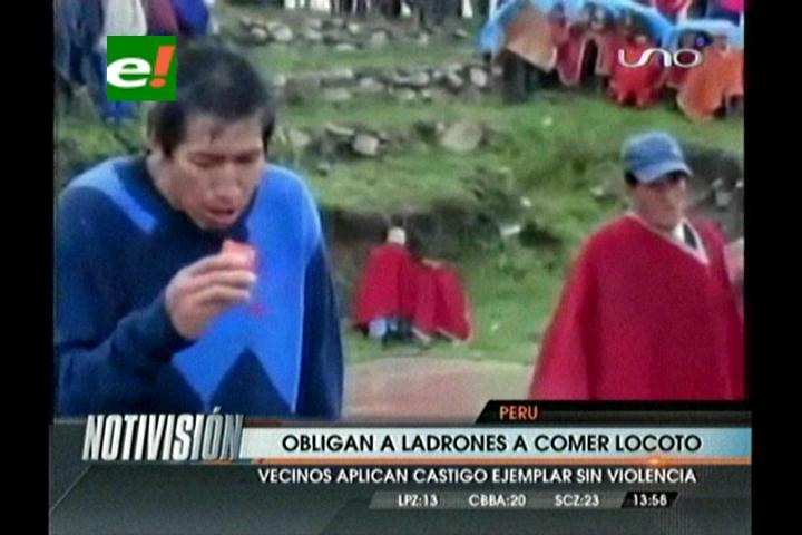 Perú: Obligan a delincuentes a comer ají locoto
