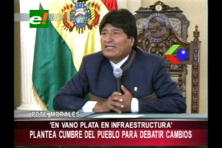Morales plantea cumbre 'Pueblo-Estado' para mejorar la justicia en Bolivia