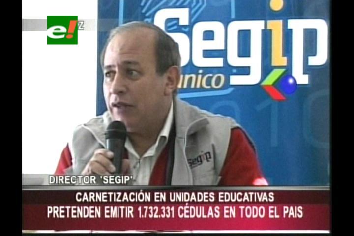 Segip pretende carnetizar a por lo menos 1.7 millones de estudiantes