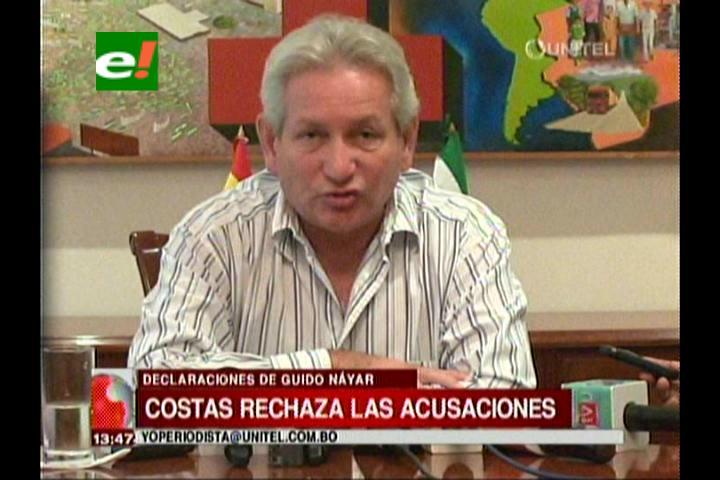 Caso Terrorismo: Rubén Costas rechaza acusaciones de Guido Nayar