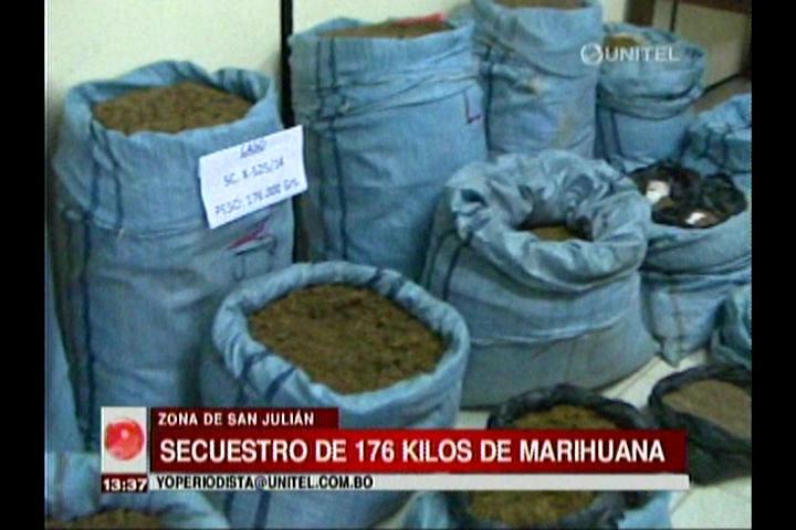 Secuestran 176 kilos de marihuana en San Julián