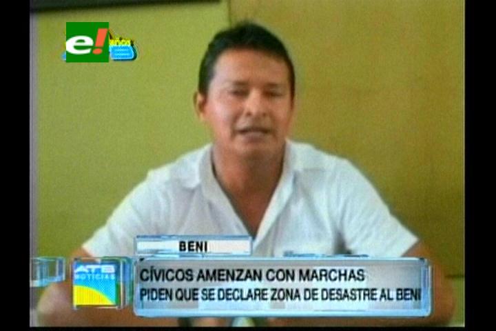 Comité Cívico da ultimátum al Gobierno para declarar a Beni como zona de desastre