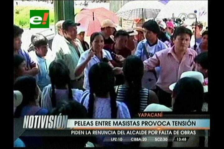 Yapacaní: Peleas por el Alcalde genera tensión y división entre masistas