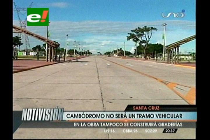 El Cambódromo no será un tramo vehicular