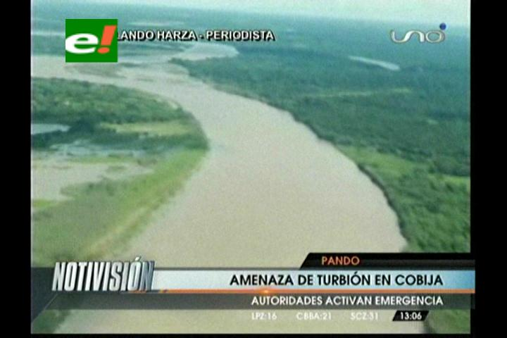 Pando: Crecida del río Acre amenaza con inundar Cobija