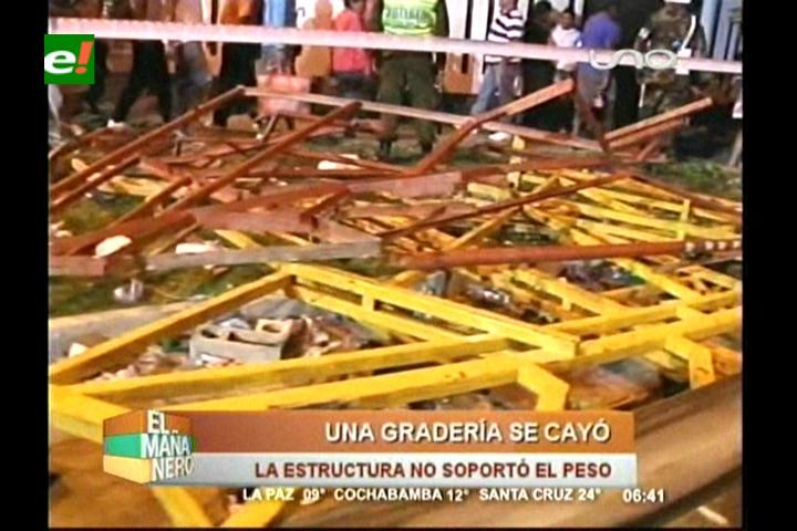 Una gradería se desploma en el Corso de Corsos, hay 7 heridos