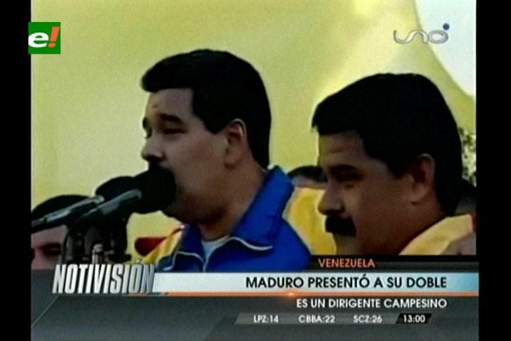 Nicolás Maduro presenta a su «doble» en acto público
