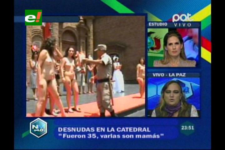"""Galindo: """"Demostramos la rebeldía de la mujer contra el machismo con los desnudos en la Catedral"""""""
