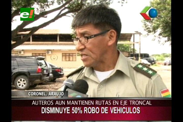 Diprove: Disminuye en un 50% el robo de vehículos en Santa Cruz