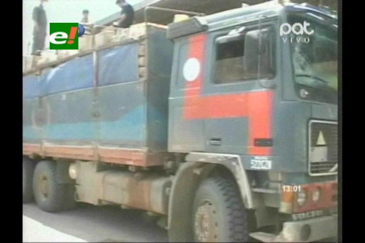 Tarija: COA detiene camión con 400 quintales de harina de contrabando