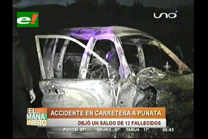 Cochabamba: Choque deja doce personas calcinadas y tres heridas graves