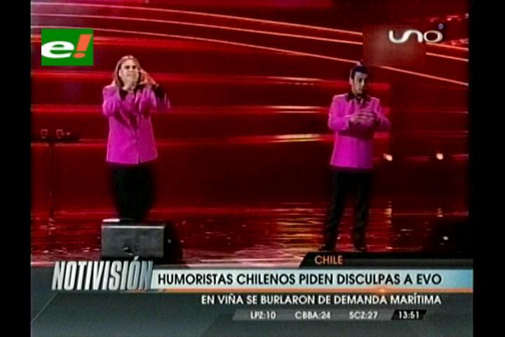 """Los humoristas """"Locos del humor"""" le piden disculpas a Evo por el show en Viña"""