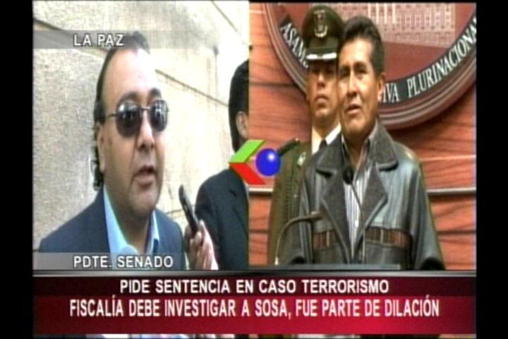 Senador Rojas pide que el Fiscal General gestione la extradición de Soza y concluya caso terrorismo
