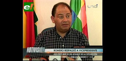 """Carlos Romero da su respaldo al """"iluminado"""" Álvaro García Linera"""
