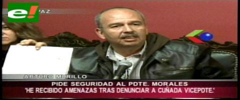 Arturo Murillo envía una carta a Evo para pedirle seguridad