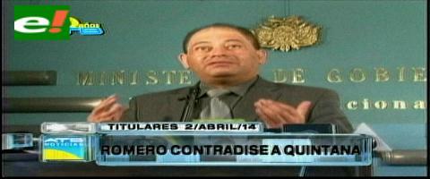 Titulares: Romero contradice a Quintana, asegura que Ley de Minería no volverá a fojas cero