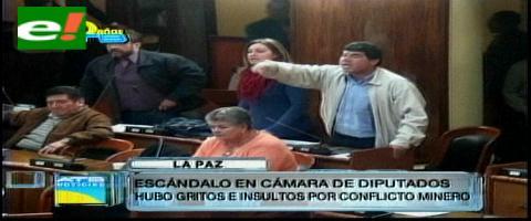 Escandalo en la Cámara de Diputados, hubo gritos e insultos por el conflicto minero