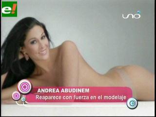 Andrea Abudinen volvió al modelaje