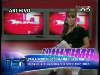 Karla Rodríguez desapareció de Unitel