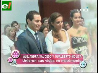 Alejandra Saucedo y Gualberto Mojica se casaron por lo civil