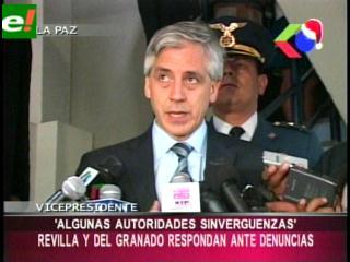 """Álvaro García Linera: """"Existen autoridades sinvergüenzas"""""""