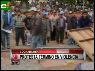 Marcha en Cochabamba terminó en gasificación