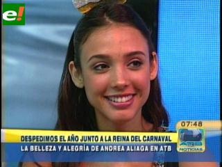 Andrea Aliaga despide el año viejo y se ilusiona con el carnaval 2011