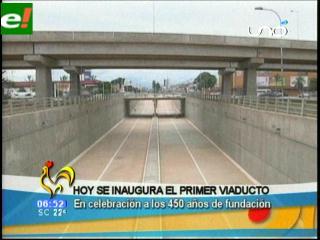Santa Cruz inaugura hoy su primer viaducto