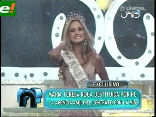 María Teresa Roca destituida y Olivia Pinheiro molesta
