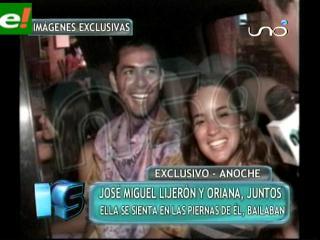 José Miguel Lijerón y Oriana Arredondo son parejas