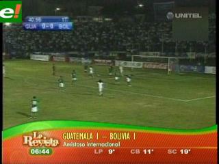 Consuelo de pobre: Bolivia 1 Guatemala 1