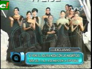 Bolivia Moda será entre el 11 y 14 de mayo