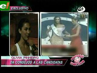 Olivia Pinheiro da consejos a candidatas al Miss Santa Cruz